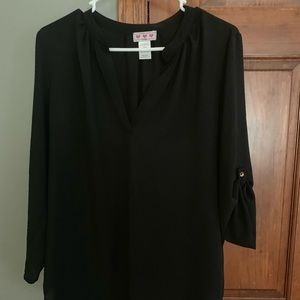 Black Dress Blouse with buttons
